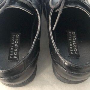 Perry Ellis Shoes - Boys Black Oxfords